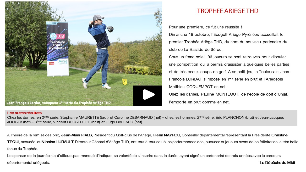 article golf video